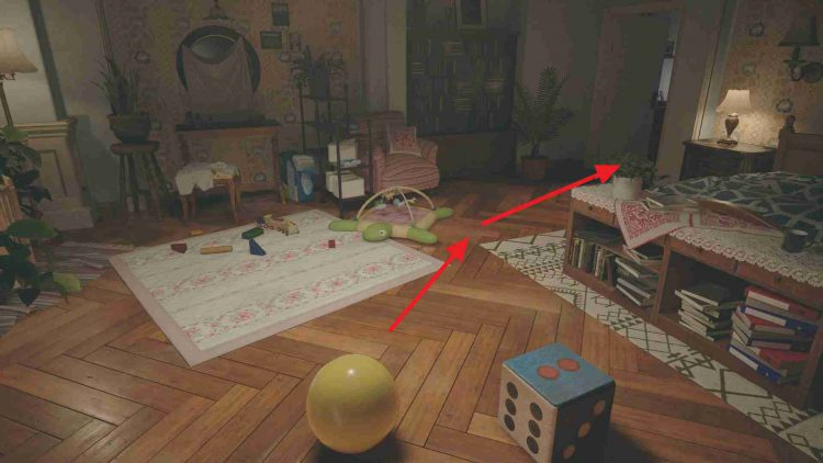 Image showing how Move the Ball from the Bedroom to the Study in Resident Evil Village.