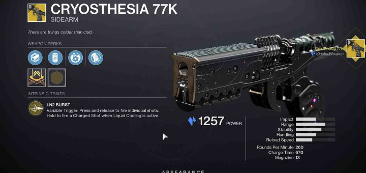 Featured image on Destiny 2 Cryosthesia 77K guide.