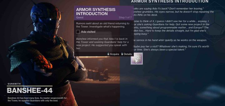 Featured image on Armor Synthesis Introduction guide.