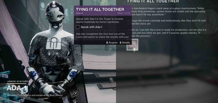 Featured image on Destiny 2 Tying it All Together guide.