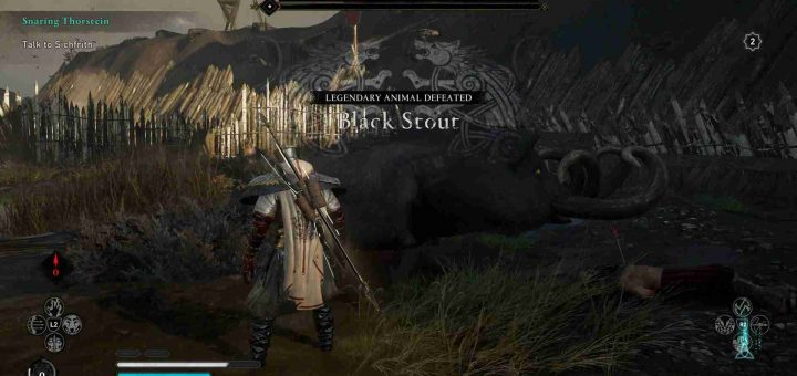 Featured image on Assassin's Creed Valhalla Black Stout Legendary Animal Boss DLC Guide.