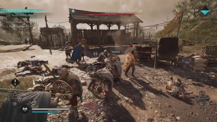Image showing surviving the Eogan attack in Wrath of the Druids.