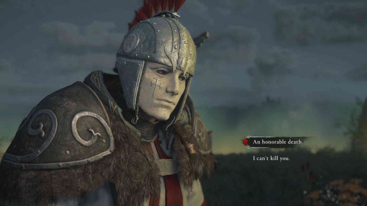 Image showing the end choice of Assassin's Creed Valhalla Wrath of the Druids DLC.