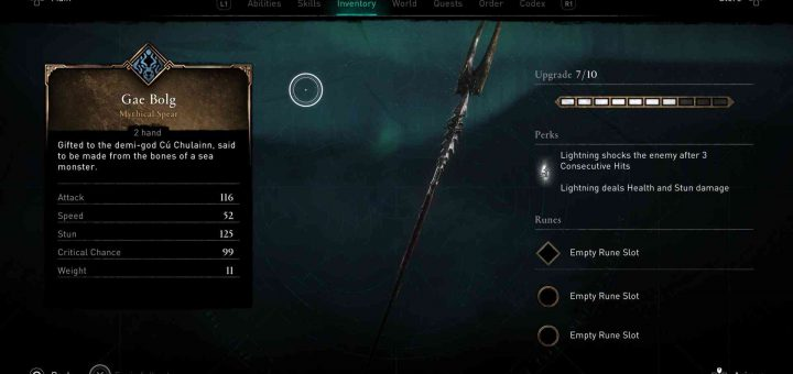 Featured image on Assassin's Creed Valhalla Gae Bolg spear unlock guide.