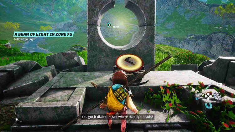 Image showing how to solve the Sundial puzzles in Biomutant.