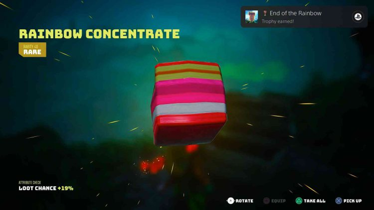 Image showing the Biomutant The End of the Rainbow trophy/achievement unlock.
