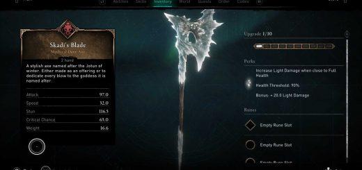 Featured image on Assassin's Creed Valhalla Skadi's Blade Unlock Guide.