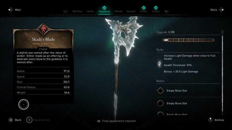 Image showing the Skaldi's Blade in AC Valhalla.