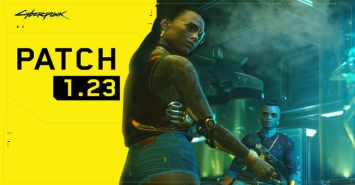Logo from Cyberpunk 2077 with Patch 1.23 added.