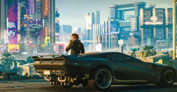 Cyberpunk 2077 is back on the PlayStation Store news article image showing character leaning against a car.