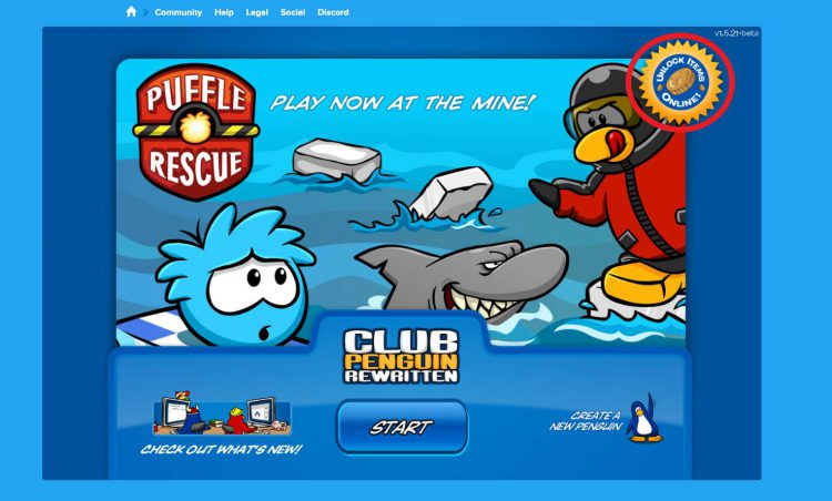 Picture showing the Club Penguin reward claim location.