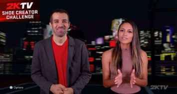 Hosts of NBA 2K21 2KTV.
