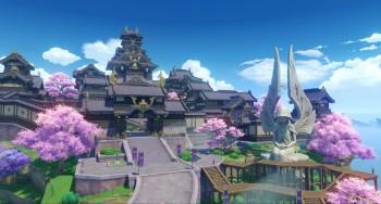 Image of the Inazuma Region in Genshin Impact Version 2.