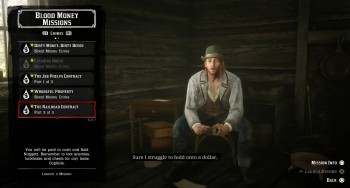 Crimes list in Red Dead Online.
