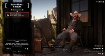 Red Dead Online image of the Opportunities list.