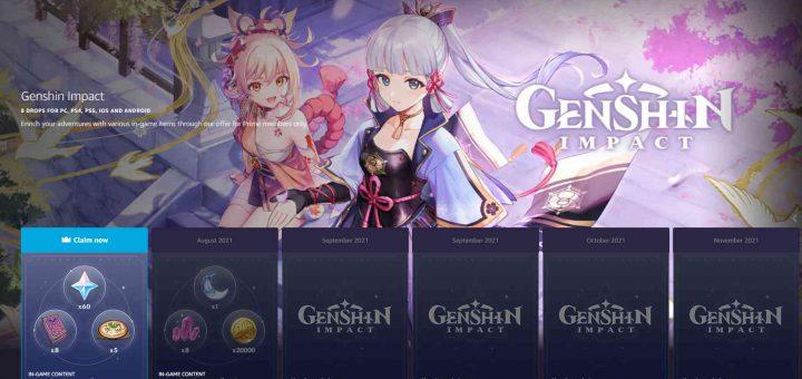 Image showing the Genshin Impact Prime Gaming bundle 1.