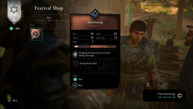 Image showing the Skrofnung sword in Assassin's Creed Valhalla.