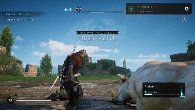 Ghost Auroch legendary animal in AC Valhalla.