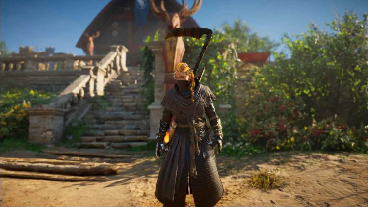 Image showing the Reaper armor set on Eivor in AC Valhalla.