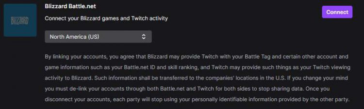 Connect Battle.net to Twitch.
