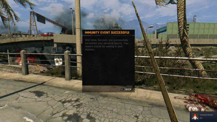 Image showing the event completion screen for the Low Gravity community event in Dying Light.