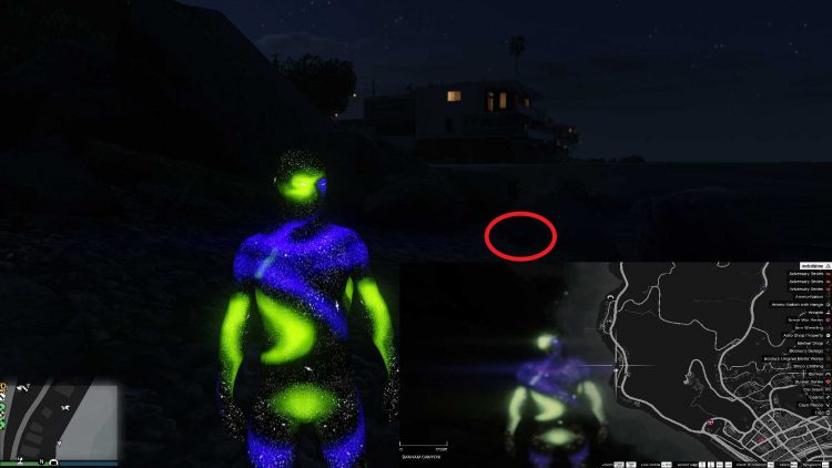 Image showing the location of the third shipwreck in GTA Online.