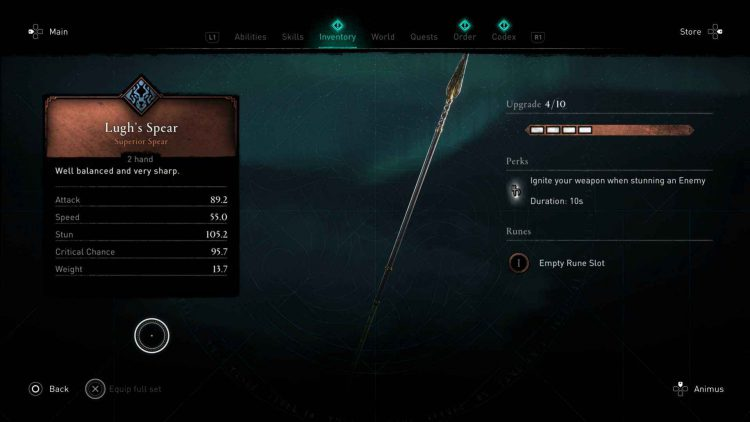 Image showing Lugh's Spear in AC Valhalla.