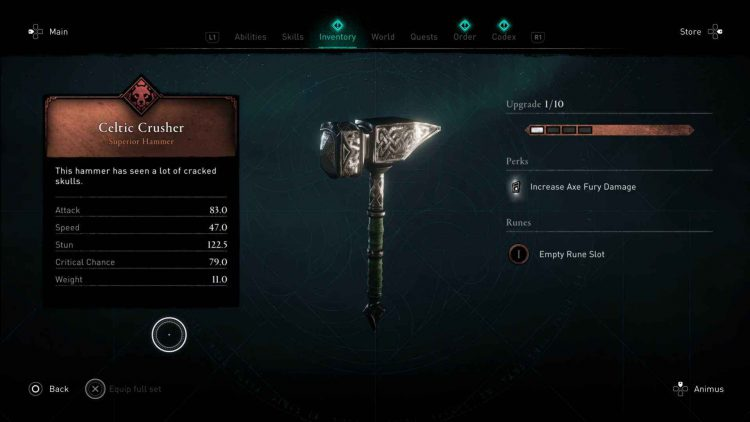 Image showing the Celtic Crusher in AC Valhalla.