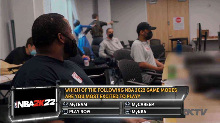 Image showing a question from NBA 2K22 2KTV Episode 1.