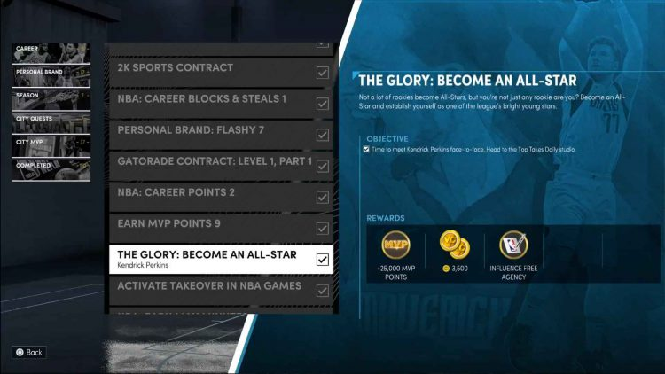 Image showing how to unlock the Influence Free Agency ability in NBA 2K22.