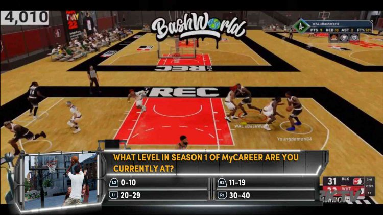 Image showing a question from NBA 2K22 2KTV Episode 3.