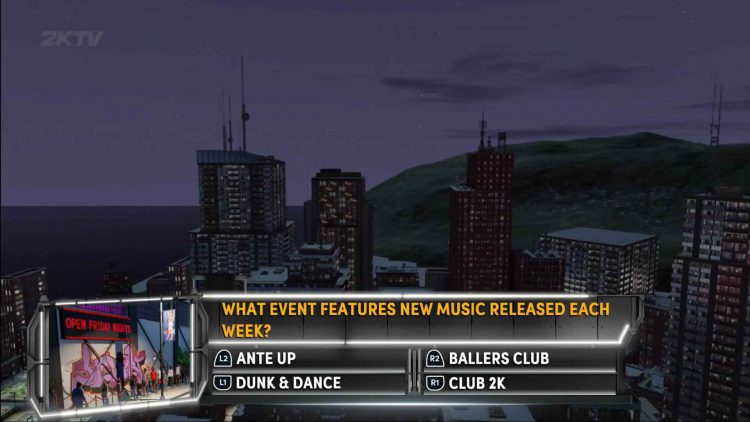 Image showing a question from Episode 4 of NBA 2K22.